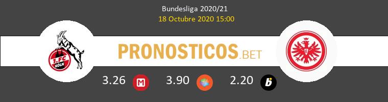 Koln Eintracht Frankfurt Pronostico 18/10/2020 1