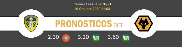 Leeds United Wolverhampton Wanderers Pronostico 19/10/2020 1