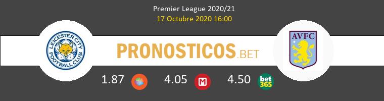 Leicester Aston Villa Pronostico 17/10/2020 1