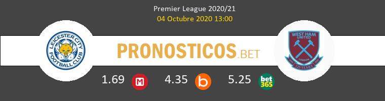Leicester West Ham Pronostico 04/10/2020 1