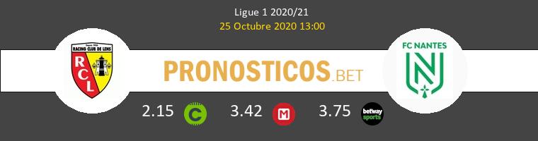Lens Nantes Pronostico 25/10/2020 1