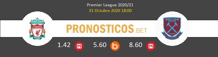 Liverpool vs West Ham Pronostico (31 Oct 2020) 1