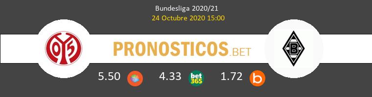 Mainz 05 B. Mönchengladbach Pronostico 24/10/2020 1
