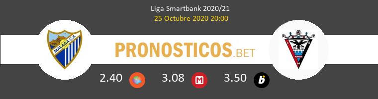 Málaga vs Mirandés Pronostico (25 Oct 2020) 1