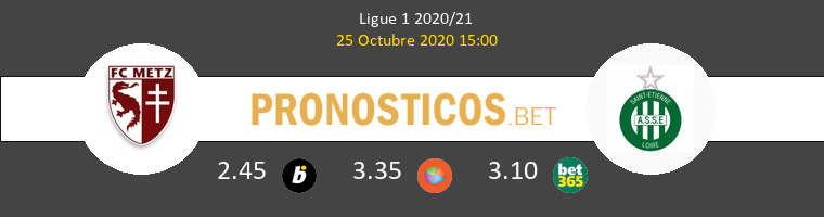 Metz SaintvÉtienne Pronostico 25/10/2020 1