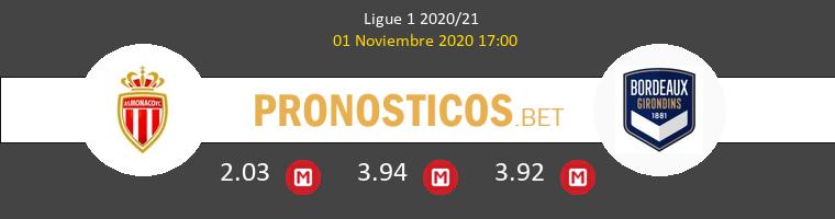 Monaco vs Girondins Bordeaux Pronostico (1 Nov 2020) 1