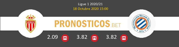 Monaco Montpellier Pronostico 18/10/2020 1
