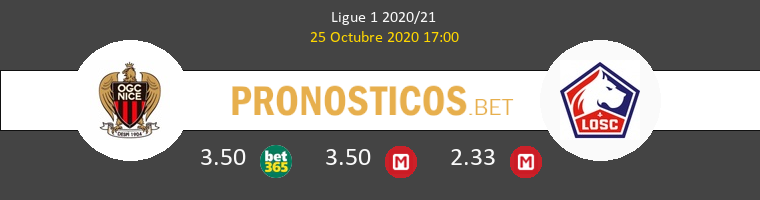 Nice Lille Pronostico 25/10/2020 1