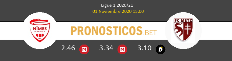 Nimes vs Metz Pronostico (1 Nov 2020) 1