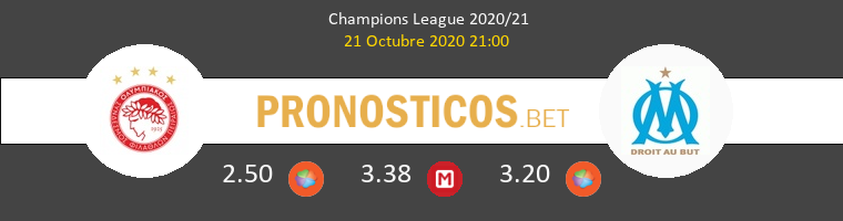 Olympiacos Piraeus Marsella Pronostico 21/10/2020 1