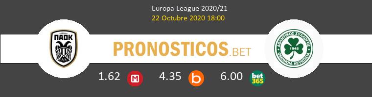 PAOK Omonia Nicosia Pronostico 22/10/2020 1