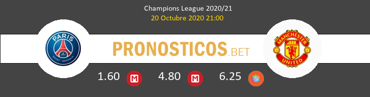 Paris Saint Germain Manchester United Pronostico 20/10/2020 1