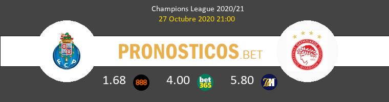 Porto vs Olympiacos Piraeus Pronostico (27 Oct 2020) 1