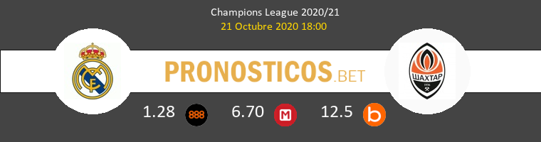 Real Madrid Shakhtar Donetsk Pronostico 21/10/2020 1