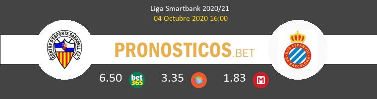 Sabadell Espanyol Pronostico 04/10/2020 1