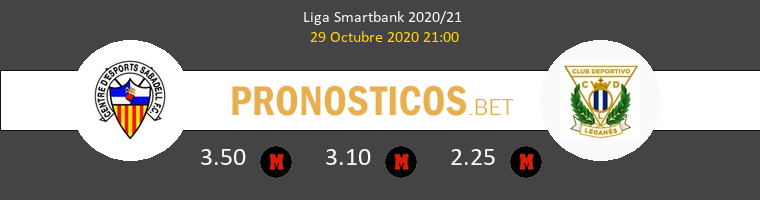 Sabadell vs Leganés Pronostico (29 Oct 2020) 1