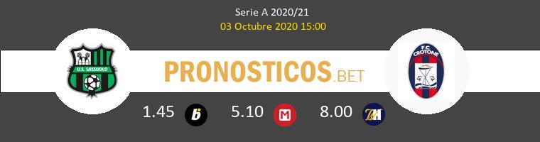 Sassuolo Crotone Pronostico 03/10/2020 1