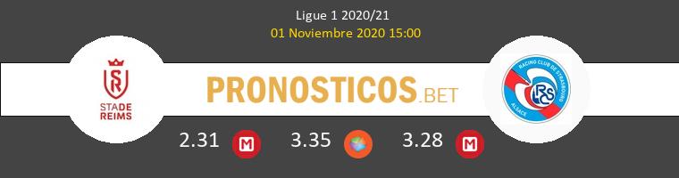 Stade de Reims vs Estrasburgo Pronostico (1 Nov 2020) 1