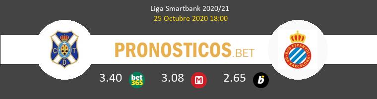 Tenerife vs Espanyol Pronostico (25 Oct 2020) 1