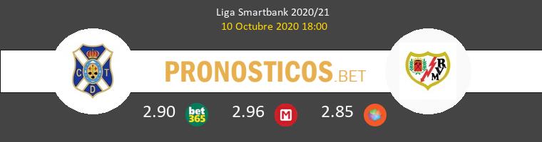 Tenerife Rayo Vallecano Pronostico 10/10/2020 1