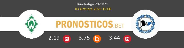 Werder Bremen Arminia Bielefeld Pronostico 03/10/2020 1