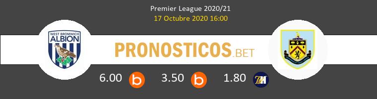 West Bromwich Albion Burnley Pronostico 17/10/2020 1