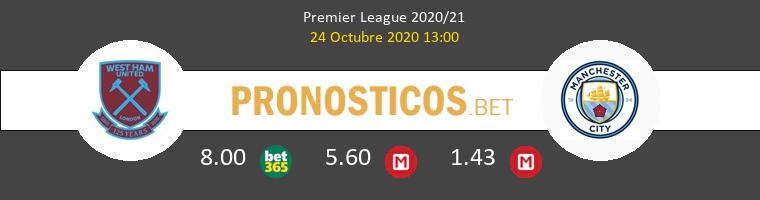 West Ham Manchester City Pronostico 24/10/2020 1
