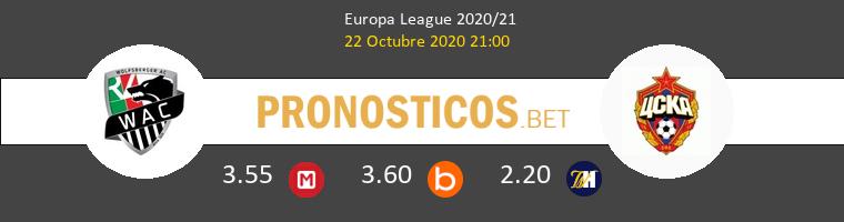 Wolfsberger AC CSKA Moskva Pronostico 22/10/2020 1