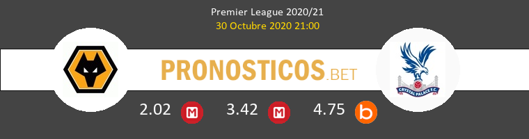 Wolverhampton Wanderers vs Crystal Palace Pronostico (30 Oct 2020) 1