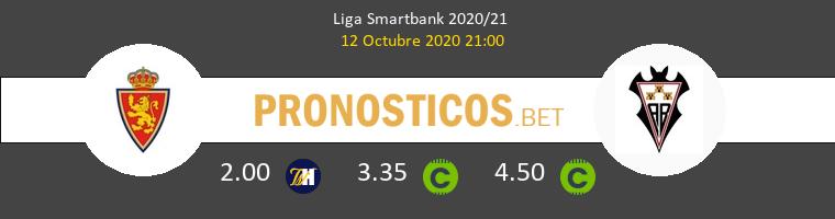 Zaragoza Albacete Pronostico 12/10/2020 1