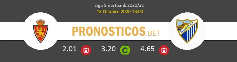 Zaragoza Málaga Pronostico 18/10/2020 1