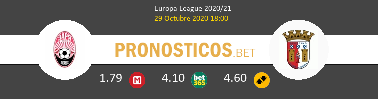 Zorya Luhansk vs Sporting Braga Pronostico (29 Oct 2020) 1