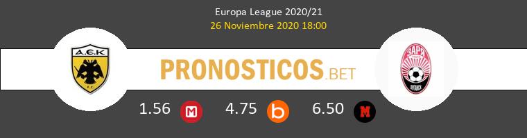 AEK Athens vs Zorya Luhansk Pronostico (26 Nov 2020) 1