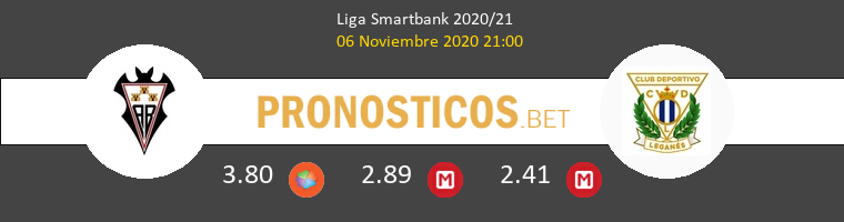 Albacete vs Leganés Pronostico (6 Nov 2020) 1