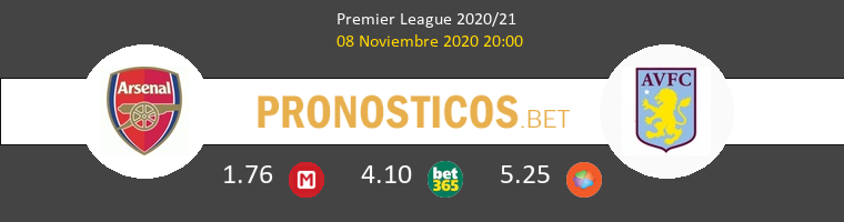 Arsenal vs Aston Villa Pronostico (8 Nov 2020) 1