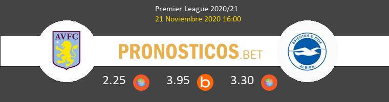 Aston Villa vs Brighton Pronostico (21 Nov 2020) 1