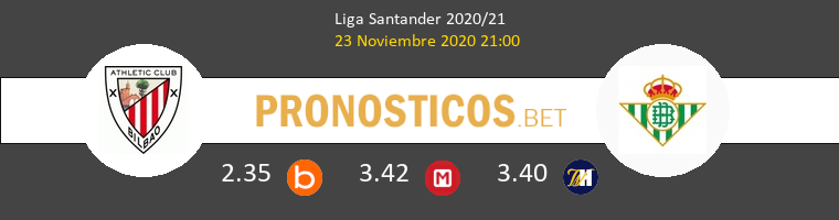 Athletic de Bilbao vs Real Betis Pronostico (23 Nov 2020) 1