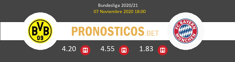 Borussia Dortmund vs Bayern Munich Pronostico (7 Nov 2020) 1