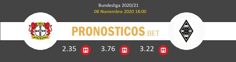 Bayer Leverkusen vs B. Mönchengladbach Pronostico (8 Nov 2020) 1