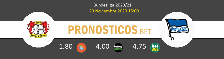 Leverkusen vs Hertha Berlín Pronostico (29 Nov 2020) 1