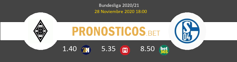 B. Mönchengladbach vs Schalke 04 Pronostico (28 Nov 2020) 1