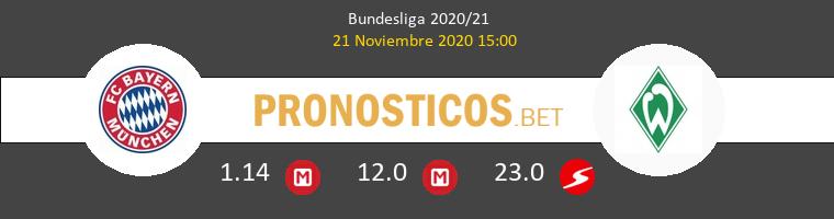 Bayern Munich vs Werder Bremen Pronostico (21 Nov 2020) 1