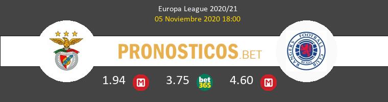 Benfica vs Rangers FC Pronostico (5 Nov 2020) 1