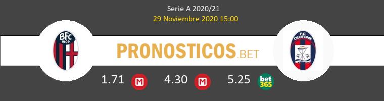 Bologna vs Crotone Pronostico (29 Nov 2020) 1
