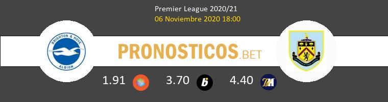 Brighton Hove Albion vs Burnley Pronostico (6 Nov 2020) 1