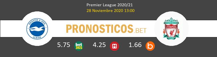 Brighton vs Liverpool Pronostico (28 Nov 2020) 1