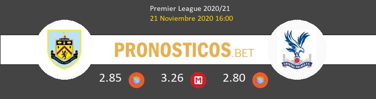 Burnley vs Crystal Palace Pronostico (21 Nov 2020) 1