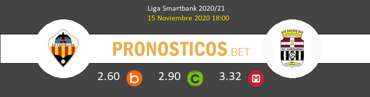 CD Castellón vs F.C. Cartagena Pronostico (15 Nov 2020) 1
