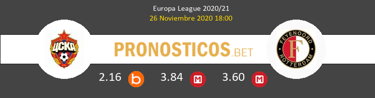CSKA Moskva vs Feyenoord Pronostico (26 Nov 2020) 1