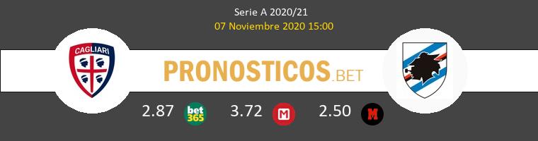 Cagliari vs Sampdoria Pronostico (7 Nov 2020) 1